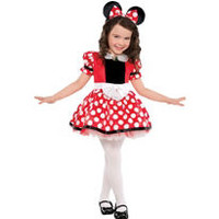 Girls Red Minnie Mouse Costume- Party City