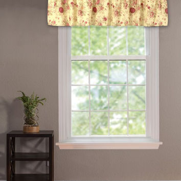 Greenland Home Fashions Claremont Collection Antique Rose Multi Color Valance Window hi