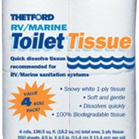 Thetford 20804 RV/Marine 1 Ply Toilet Tissue - Pack of 4 | AihaZone Store