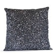 Designer Throw Pillow Cover, Grey Silk Luxury Confetti Decorative Pillow Case, Gray Sequin Beads Cushion, High End Pillow Case, Christmas Gifts, Wedding Gift, New Year Gifts (14x24)