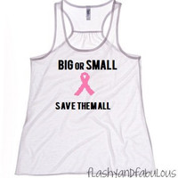 Breast Cancer Awareness Tank Top - White Tank - Workout Tank