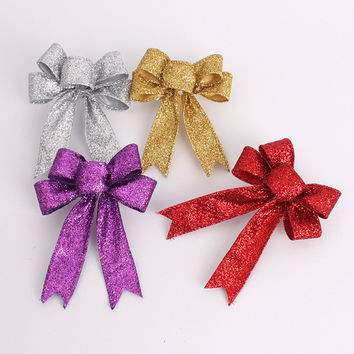 Merry Christmas 13cm Bowknot Decor Christmas Tree Hanging Decoration Xmas Bowknot Ornament [8323724225]