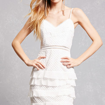 Ruffled Crochet Cami Dress