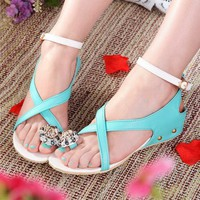 Flower Simple Style Flat Sandals