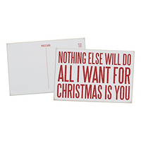 Nothing Else Will Do. All I Want For Christmas Is You - Mailable Wooden Christmas Greeting Card