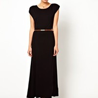 Oasis T-Shirt Maxi Dress With Belt at asos.com