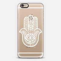 WHITE HAMSA iPhone 6 case by Katie Reed | Casetify