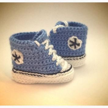 Crochet baby (converse) sneakers (high top) made to order