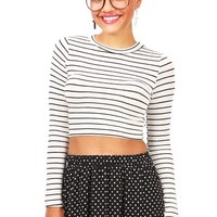 Linear Crop Top | Cute Tops at Pink Ice