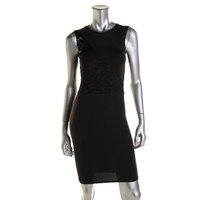 Donna Mizani Womens Ponte Lace Inset Clubwear Dress
