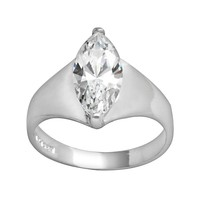 Sterling Silver Cubic Zirconia Ring (Stone/Silver)