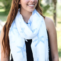 Sea Of Starfish Scarf - Blue