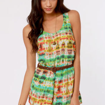 The Way We Blur Print Romper