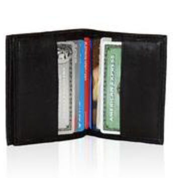AFONiE RFID-Blocking Leather Card Case Excellent Designer Best Business Card Holder