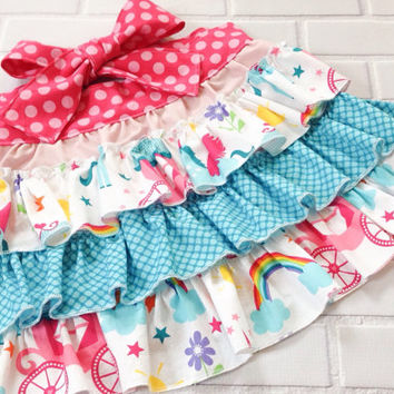 Girls Apron Ruffles Princess Unicorn Boutique Clothing By Lucky Lizzy's