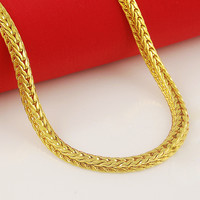 24k gold GP 5mm men's  chain Necklace 60cm