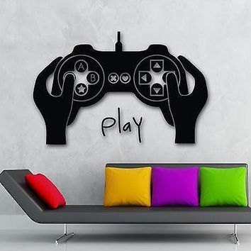 Wall Sticker Vinyl Decal Video Game Joystick Gamer Cool Kids Room Decor Unique Gift (ig1963)