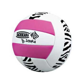 Tachikara Pink Zebra Volleyball - Volleyball.Com