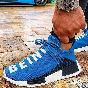 Adidas NMD Human Race Women Men Fashion Trending Running Sports Shoes Sneakers