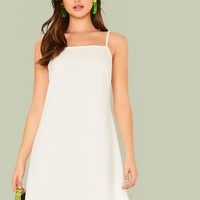 Scalloped Edge Slip Dress