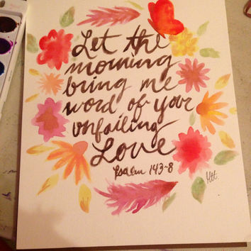 Bible verse watercolor painting
