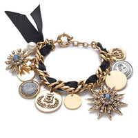 J.Crew Womens Mixed Charm Bracelet