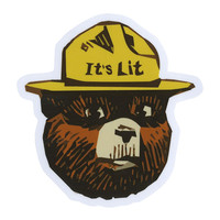 It's Lit Bear Sticker | Stickers
