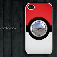 unique iphone 4 case iphone 4s case iphone 4 cover Pokemon Pokeball design