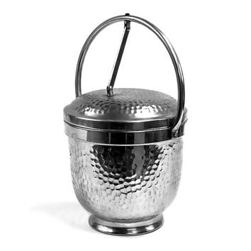 Italian Made Vintage Aluminum Nasco Ice Bucket / Mid Century Bar / Made in Italy Design
