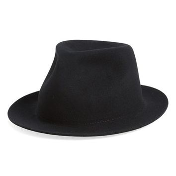 Men's rag & bone 'Hackman' Wool Fedora - Black