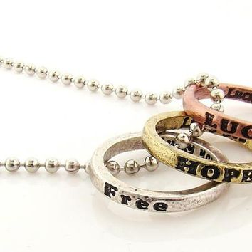 Inspirational Rings Necklace