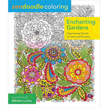 St Martins Zendoodle Coloring Enchanting Gardens Adult Coloring Book