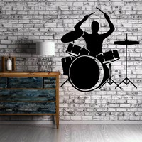 Bass Drum Sound Music Band Positive Mural  Wall Art Decor Vinyl Sticker Unique Gift z665