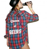 The Laundry Room Queen Of Beers Flannel | Dolls Kill