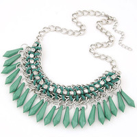 Statement Necklace 2016 Fashion Bohemian Jewelry Necklaces & Pendants Rivet/Spike Silver Plated Colar Necklace for Women Jewelry