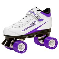 Roller Derby Viper M4 Speed Quad Skates - Women (White/Purple/Black)