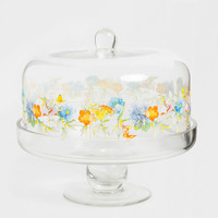 Serving Dish / Tray with Floral Transfer - Serving Dishes - Tableware | Zara Home United States