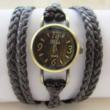 Handmade Bracelet Wrap Bronze Watch - 2015 New Orlogin Style Design  FREE SHIPPING