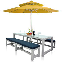2015 Outdoor Furniture Rattan Dining Table with Chairs