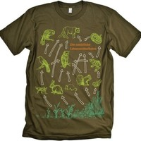 Food Chain Science Olive T-shirt