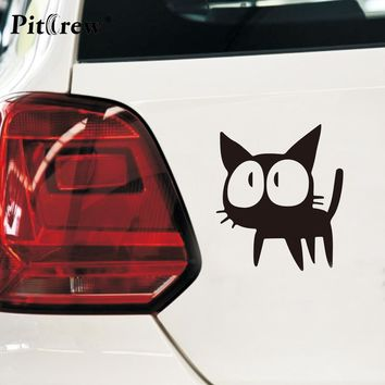1PC 12.7*11CM Cafe Kichijoji Black Cat Anime Motorcycle Car Stickers And Decals