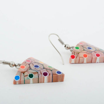 Homemade jewelry wood earrings designer accessories cute earrings cool gifts