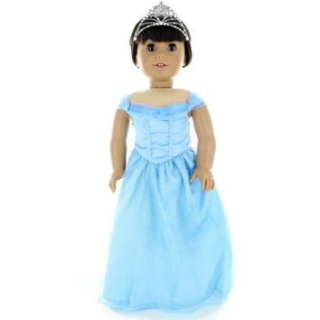 Doll Clothes Fits American Girl& Other 18 Inch Dolls Beautiful Princess Style Dress