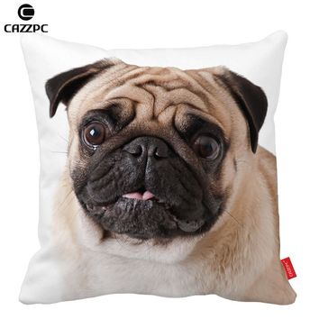 Cute Pug Dog Big Face Pattern Print Custom Home Decorative Throw Pillow almofadas decorate pillow sofa chair cushion