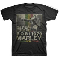 Bob Marley - Get Up Stand Up T Shirt on Sale for $19.95 at HippieShop.com