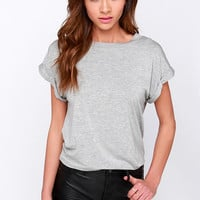 Roll With It Heather Grey Tee