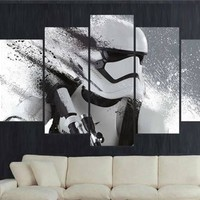5 Pieces/set Stormtrooper Star Wars Movie Film Movie Poster Home Decor Wall Art Picture Print Painting On Canvas Print Pictures