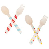 Poketo Wooden Party Utensils