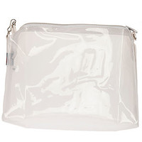 MKL Accessories Bag Zip Lock Clutch in Clear