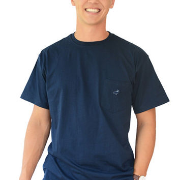 S/S Embroidered Pocket Tee | 6 colors available
